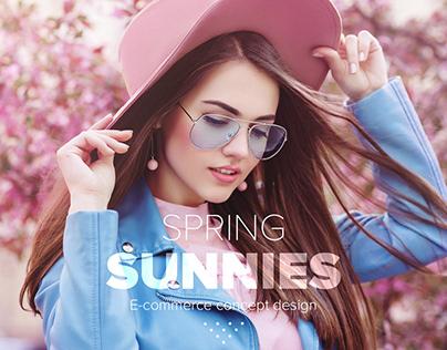 Sunglasses concept design // E-commerce // Website