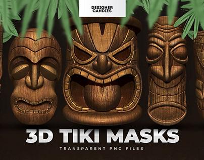 Tiki Totem Mask PNGs