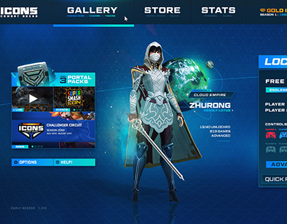 Icons Combat Arena - UI Overhaul