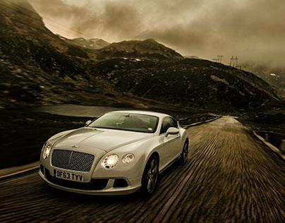 Bentley, flying up the Gotthard