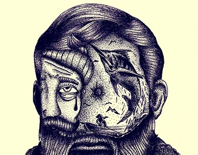 Ernest Hemingway - Old man and the sea / Illustration