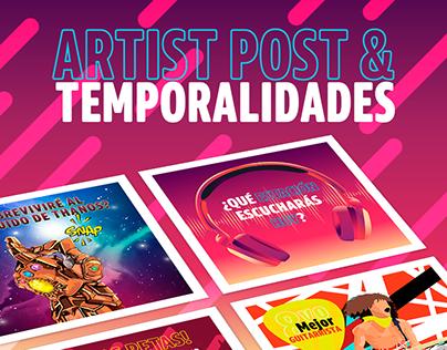 Artist Post & Temporalidades