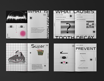 Tooth Decay Brochure Layout Design/虫牙小册子设计