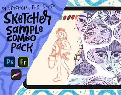 Sketcher Sample Brushes