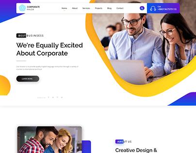Corporate website design in WordPress