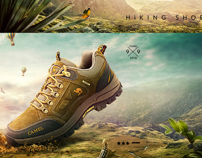 Camel hiking shoes