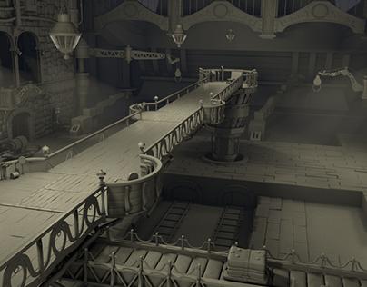 Lindblum Castle Airship Hangar Final Fantasy IX