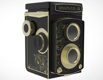 PROJET SCOLAIRE : Modélisation 3D d'un Yashica-A