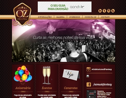 Site Institucional - Oz Music and Fantasy
