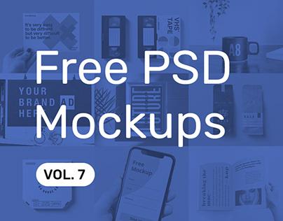 Free PSD Mockups vol. 7