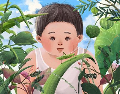 Little Boy & The Grasshopper