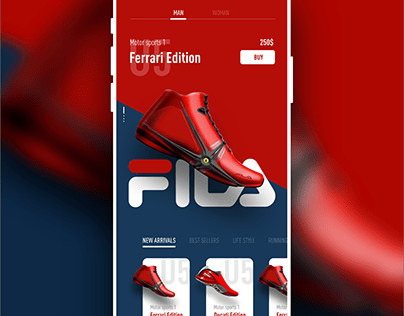Fila Mobile screen UI/UX
