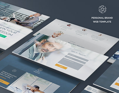 Personal brand web template