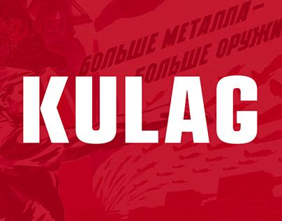 KULAG — free display typeface