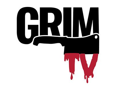 Logo for GrimTV network channel.