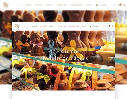 Site web pour Dragée Chocolat Benier (Lyon)