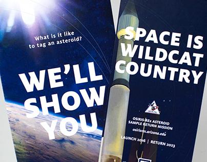 Promotional materials for OSIRIS-REx Launching