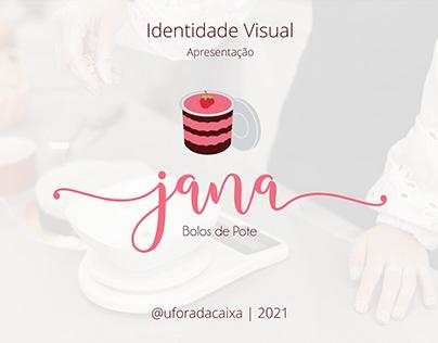 Identidade visual - Jana 'bolos de pote'