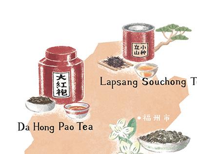 eighty° magazine illustrations : History of tea