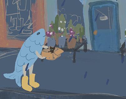 Fish in Rain Boots Animation