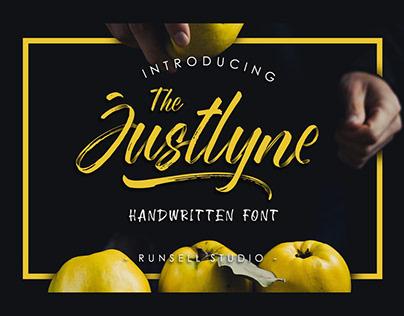 Justlyne handwritten font