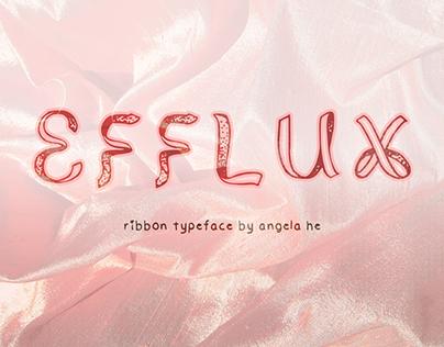 Efflux - free ribbon font