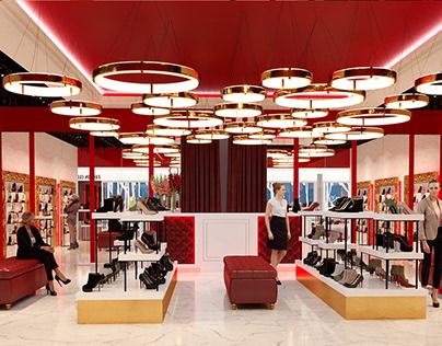 """Дизайн обувного магазина """"RED"""""""