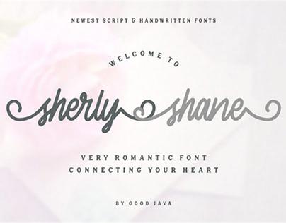 Sherly Shane - Free Elegant script typeface