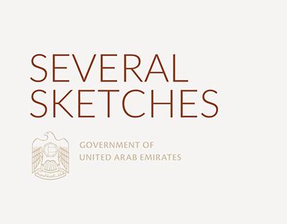 UAE GOV. Several sketches