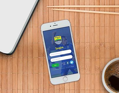 Login Screen Persib Mobile App - UI UX Design