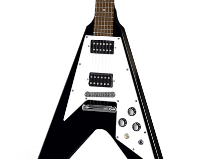 Ilustración realista Gibson Flying V
