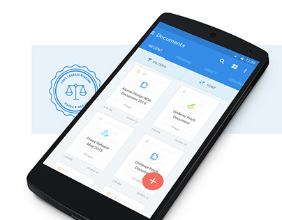 Signeasy Android App Design