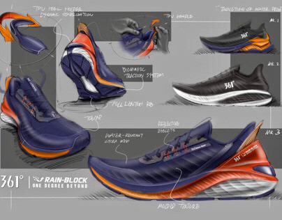 Sketches of 361 Degrees Rain-Proof Runners