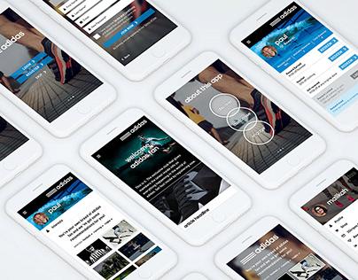 Adidas 3Stripes | Web & App design | UI/UX
