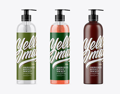 Shower Gel Bottle Mockup