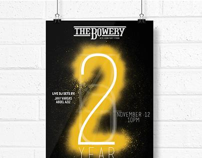 The Bowery 2 Year Anniversary