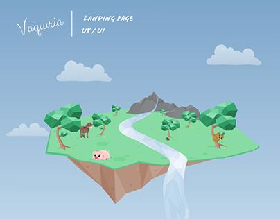 Vaquíria - Landing page