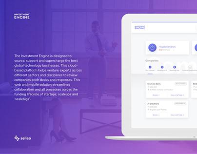 Investment Engine web application UX/UI