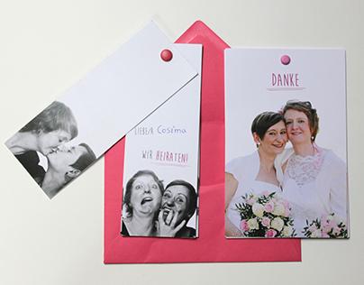 Hochzeitseinladungen / Danksagungskarten