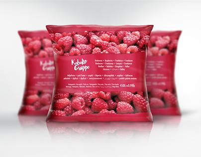 Frozen Raspberries Label