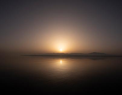 Sunset sand