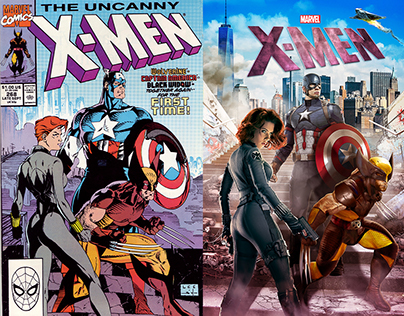 Remastering Iconic Marvel Covers