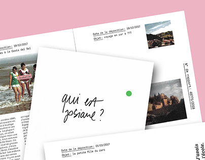 Qui est Josiane ? – Editorial design