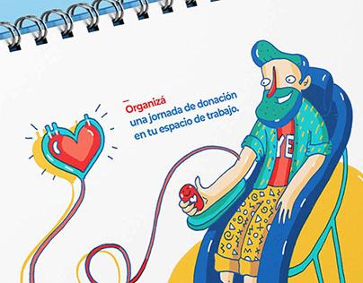 Calendario 2020 / Calendar about blood donation