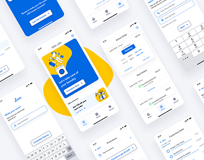 On-demand Laundry Delivery App (UX/UI)