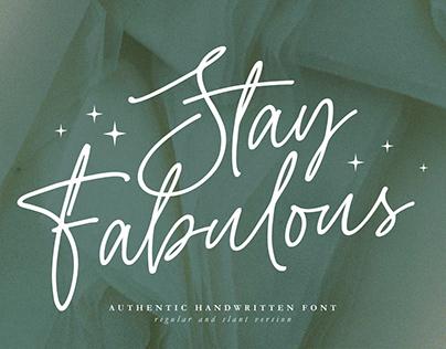 Stay Fabulous - Handwritten Script Font