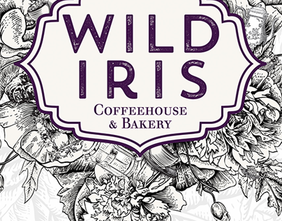 Wild Iris Coffeehouse Branding
