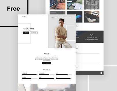 Alex – Free Personal Portfolio And Resume PSD Template