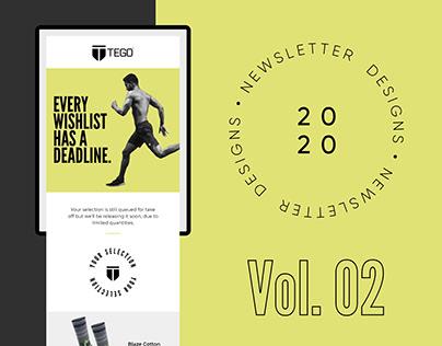 Newsletter Campaign Designs Vol. 02