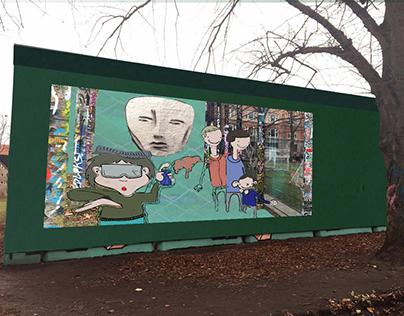 Artwork on Metrofence